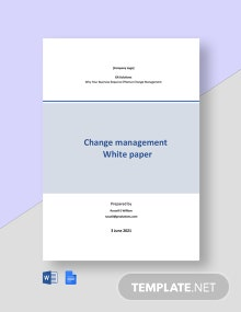 Change Management White Paper Template