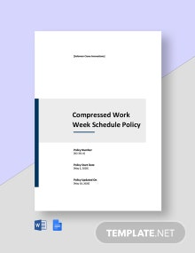 Compressed Work Week Schedule Policy Template