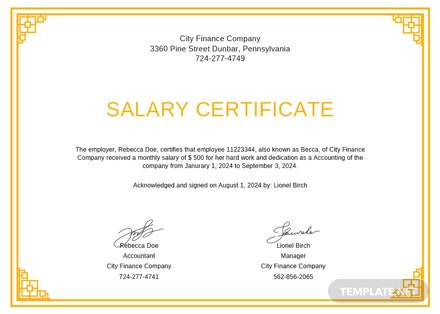 Free salary certificate from employer template download 200 free salary certificate from employer template altavistaventures Images