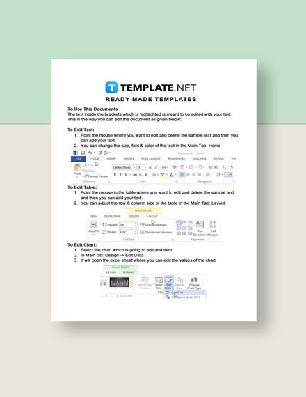 Freelance Design Rate Sheet Instructions