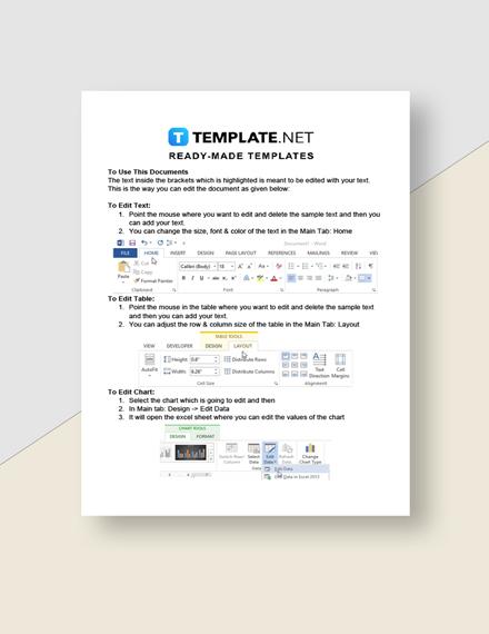 Freelance Cost Sheet Instructions