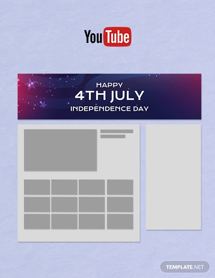 Free 4th of July YouTube Channel Cover