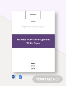 Business Process Management White Paper Template