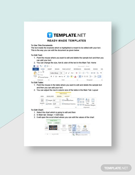 Freelance Rate Sheet Template