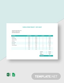 Freelance Rate Sheet Template