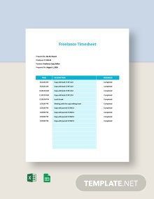 Freelance Timesheet Template