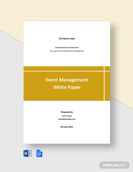 Event Management White Paper Template