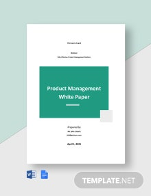 Product Management White Paper Template
