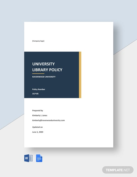 University Library Policy Template