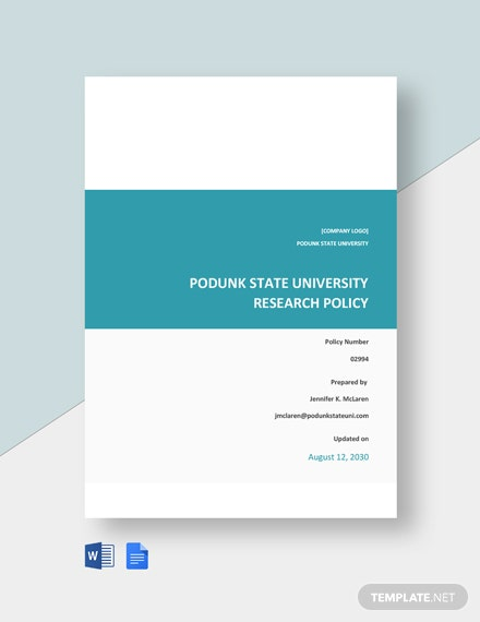 Research Policy Handbook Template