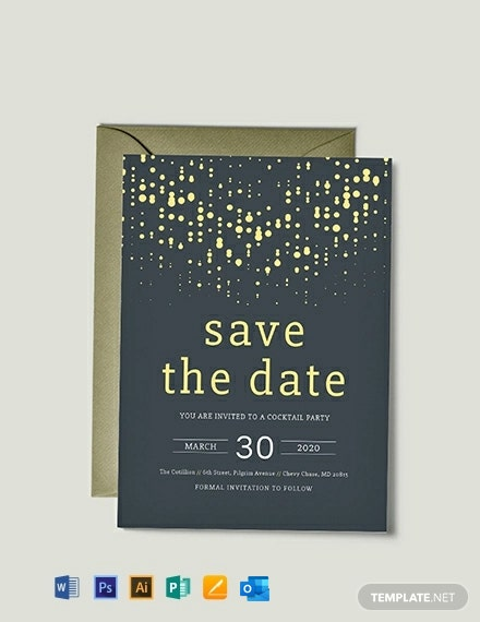 Free Save the Date Party Invitation Template
