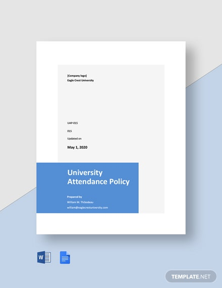 Free University Attendance Policy Template
