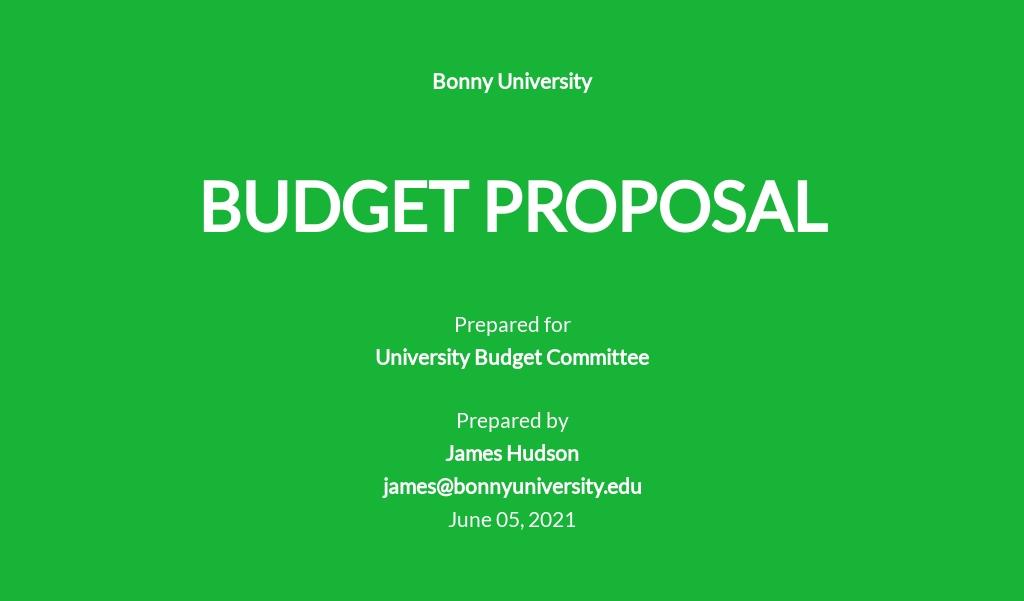 University Budget Proposal Template.jpe