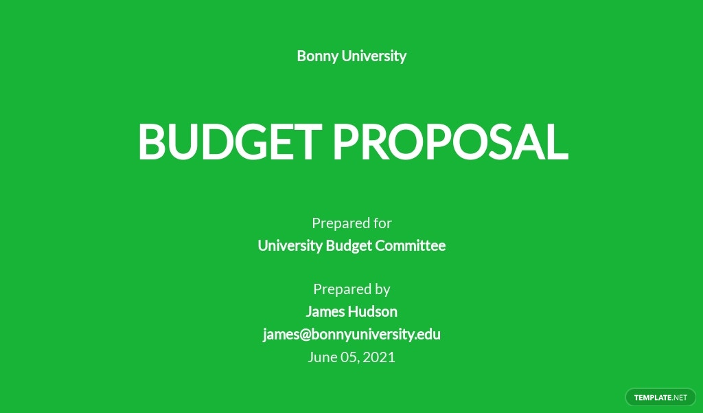University Budget Proposal Template