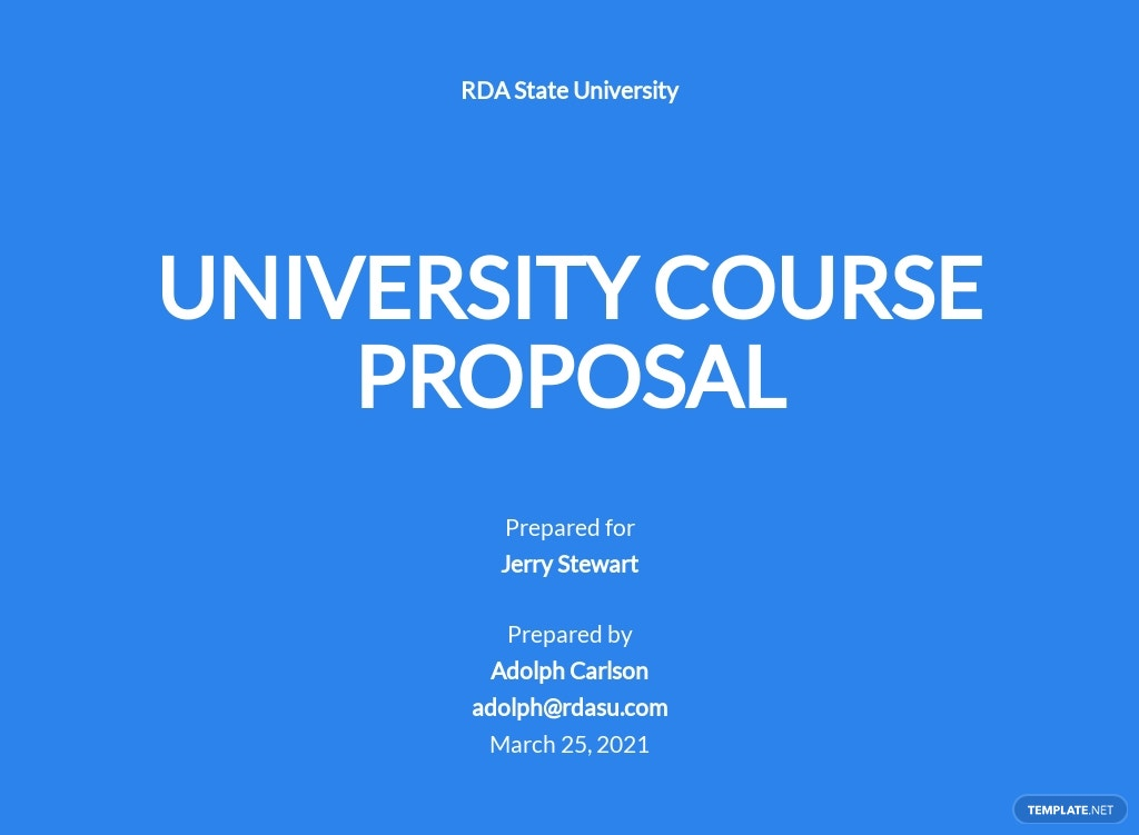 University Course Proposal Template