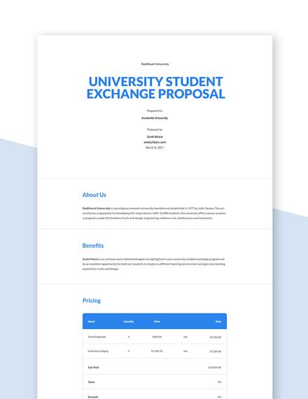 Free Basic University Proposal Template
