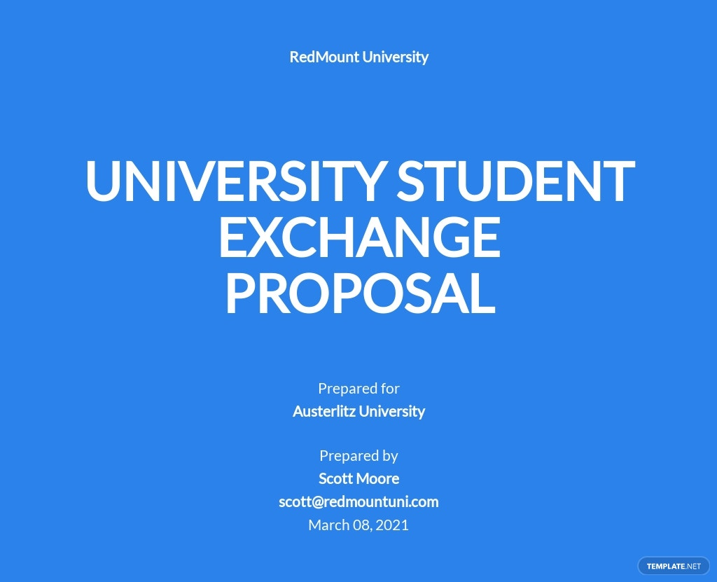 Basic University Proposal Template