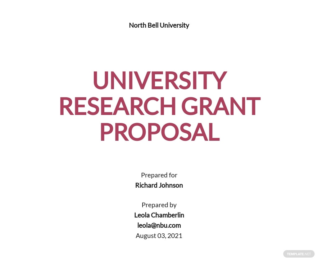 Simple University Proposal Template