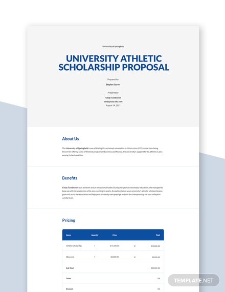 Editable Free Sample University Proposal Template