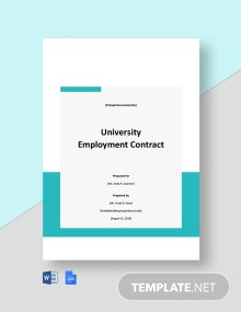 University Employment Contract Template