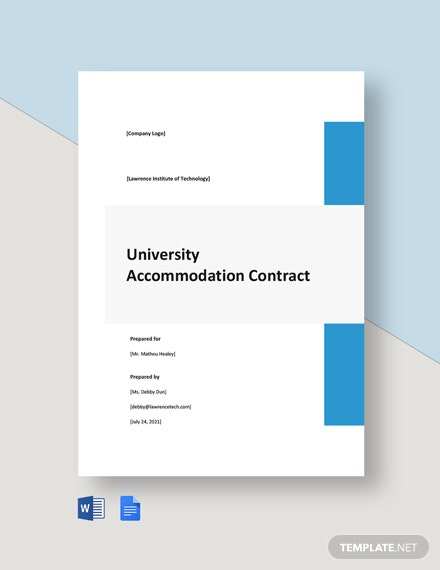 University Accommodation Contract Template