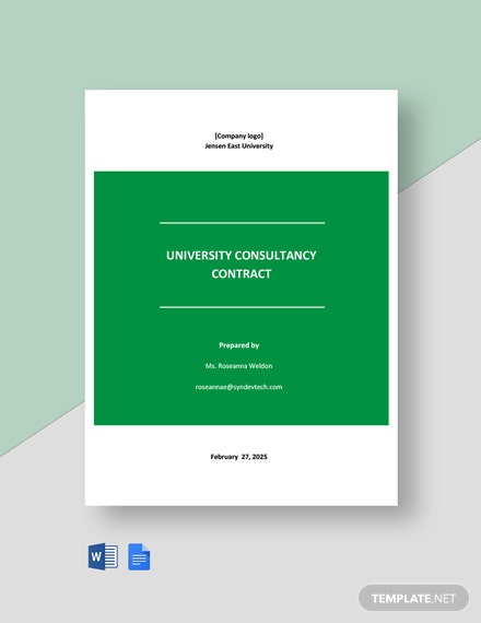 University Consultancy Contract Template