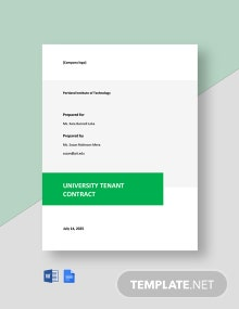 Free Simple University Contract Template