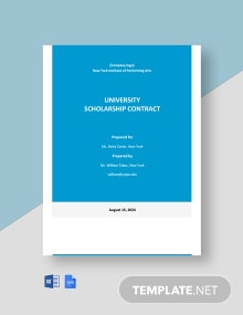 Free Sample University Contract Template