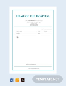 Free Medical Prescription Format