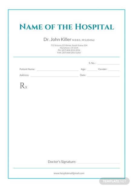 Free Medical Prescription Format Template: Download 53+ Notes in ...