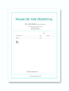 Medical Prescription Format