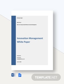 Innovation Management White Paper Template
