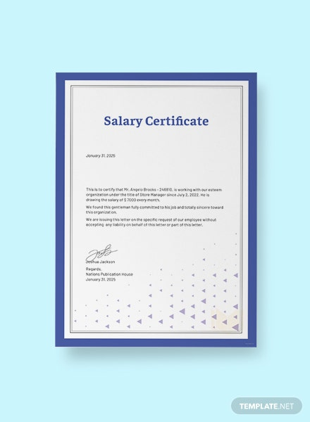 Free Salary Certificate from Employer Template in Microsoft Word ...