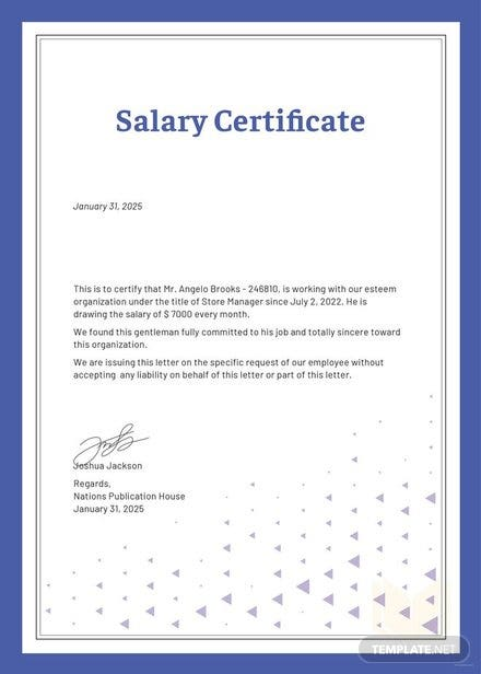 Free salary certificate template download 200 certificates in word free salary certificate template free salary certificate template thecheapjerseys Image collections