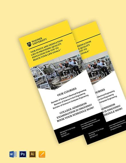 University Marketing Rack Card Template