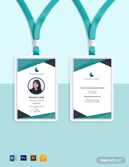 Library ID Card Template