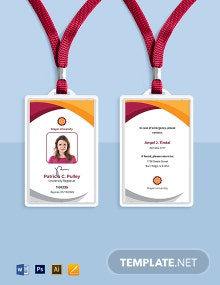 University Employee ID Card Template