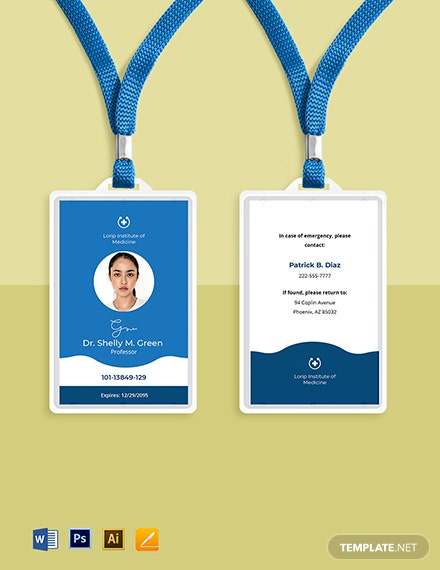 Medical University ID Card Template