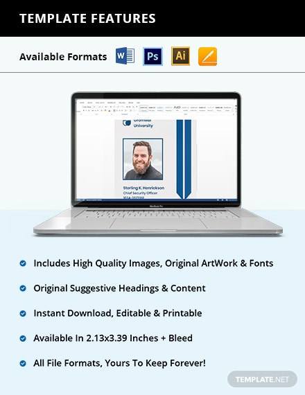 Free University Vertical ID Card Template Guide