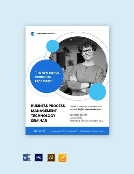 University Seminar Flyer Template