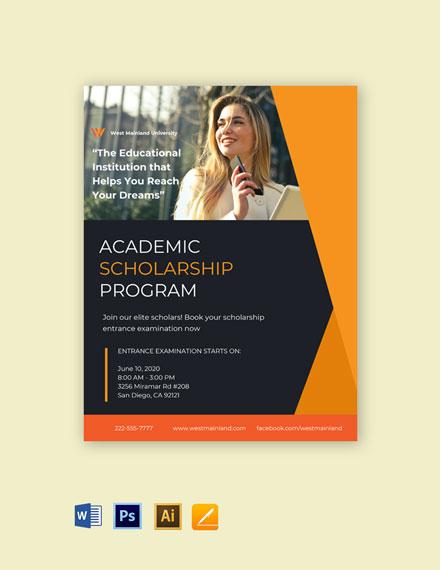 University Scholarship Program Flyer Template