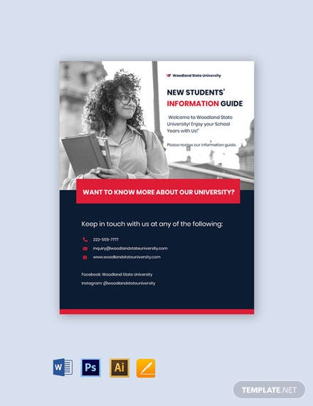University Information Flyer Template