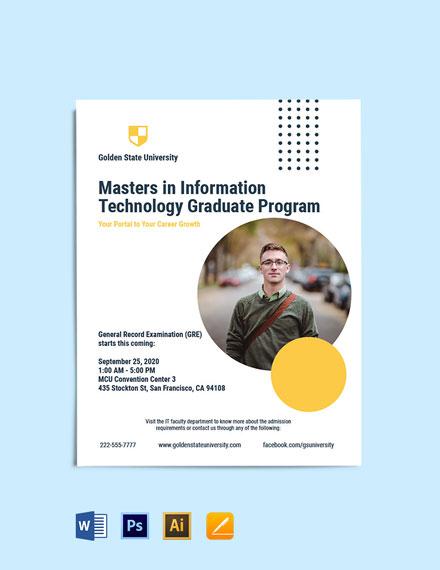 Graduate Program Flyer Template