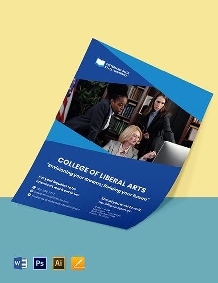 University College Flyer Template