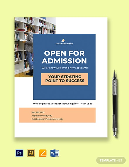 University Open Admission Flyer Template