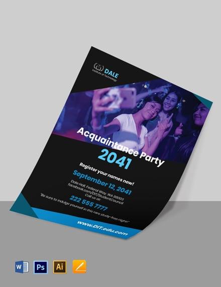 University Party Flyer Template
