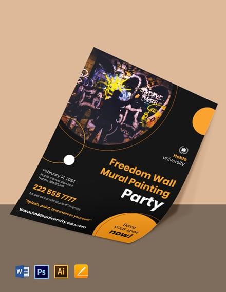 University Paint Night Event Flyer Template
