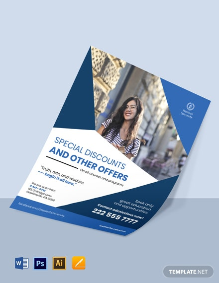 University Admission Flyer Template