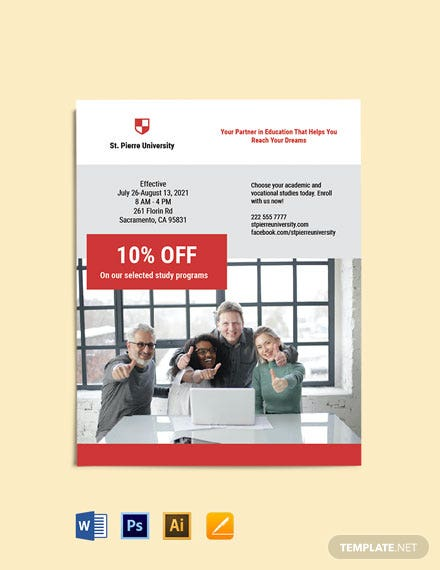 University Study Flyer Template
