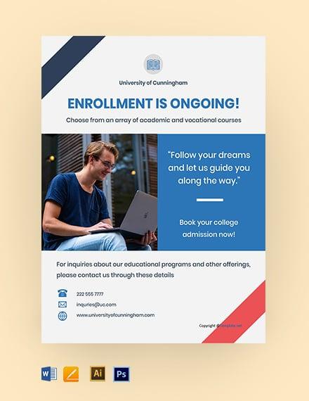 Free Elegant University Flyer Template